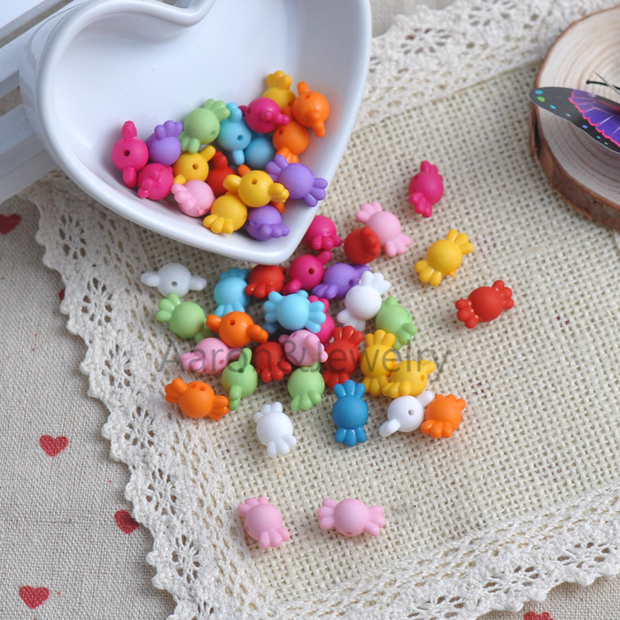 Beads & Jewelry Making Frugal 9x17mm 50pcs Mixed Color Acrylic Candy Spacer Neon Beads Fit Jewelry Handmade Ykl0405x Discounts Sale