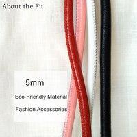 5mm 2 M/Roll Cucita Agnello In Pelle Cavo Con Nucleo di Cotone Sutural Pelle Di Pecora Vera Pelle Corda Per Il Braccialetto collana Creazione di Gioielli