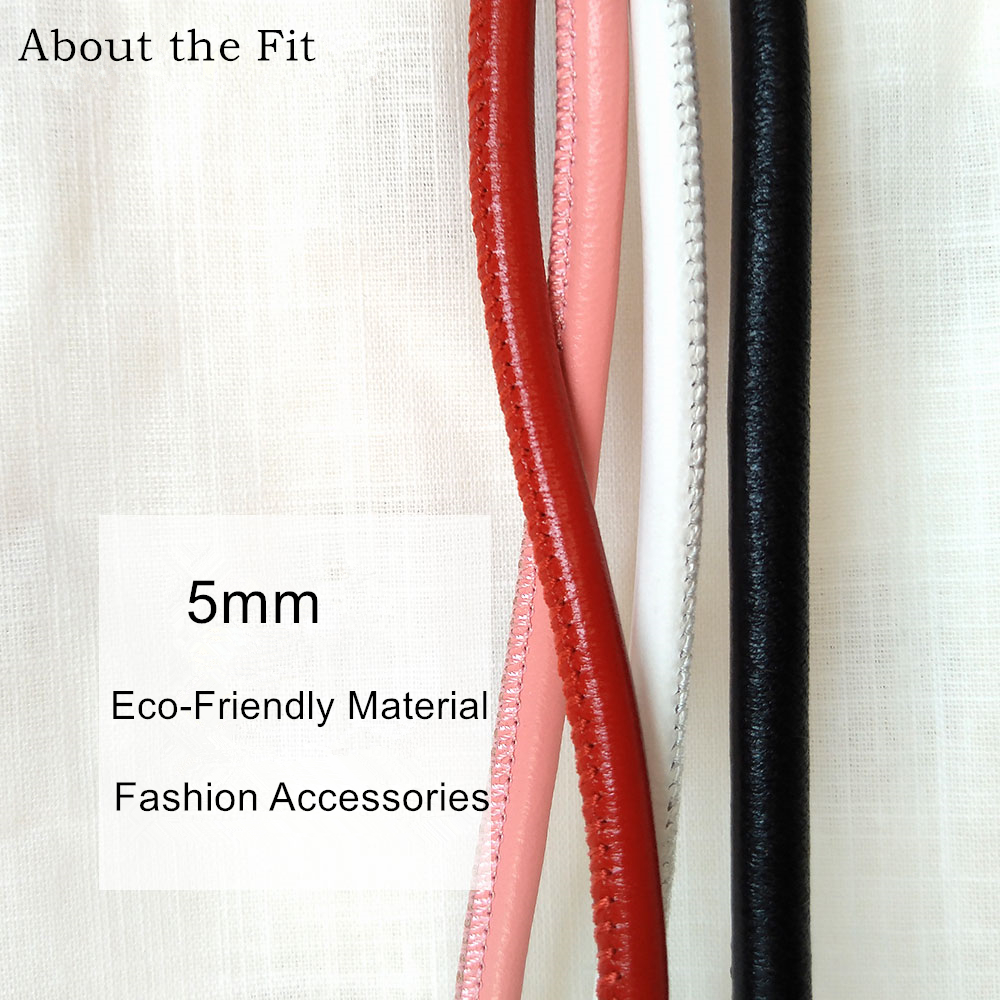 5mm 2M/Roll Stitched Lamb Leather Cord With Cotton Core Sutural Sheepskin Real Leather Rope For Bracelet Necklace Jewelry Making linhuipad touring single side headsets single earhook helmet 3 5mm mono plug cord 1 2m singapore post