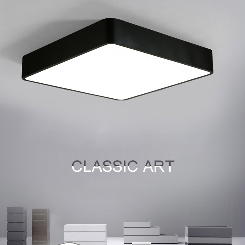 Modern Square LED Ceiling Light Acrylic White Black Surface Mount Lamp For Balcony Bedroom Living Room Fixture Lighting CL180