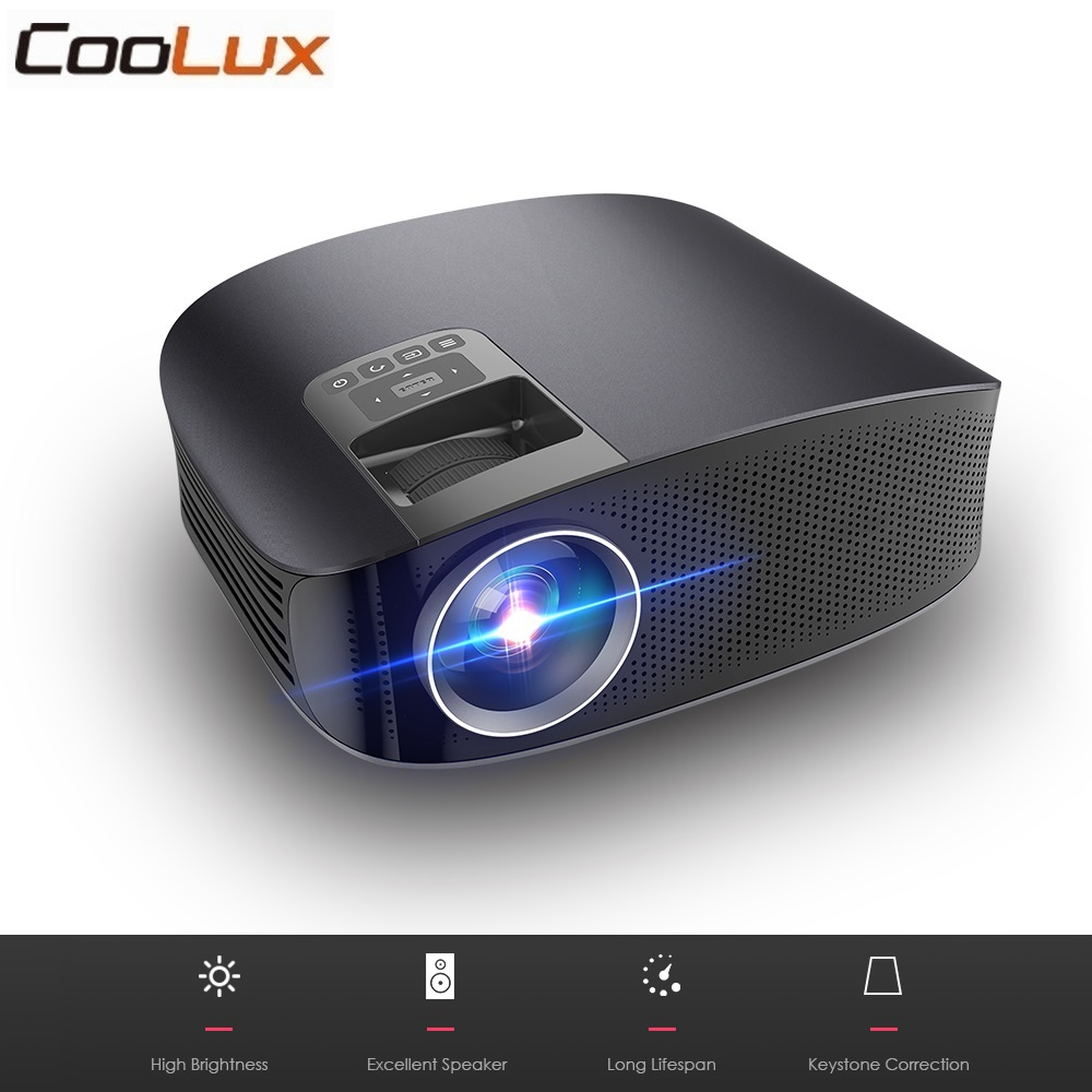 Coolux YG600 LCD LED Projector 3600 Lumens 1080P Wired Sync Display Video Multi Screen Home Theatre Proyector DVD Player