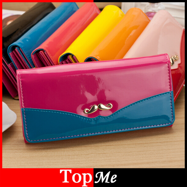 Fashion Women wallets cards holders Patent PU leather Woman wallet lady purse handbags money coin purse clutch wallet bags Burse