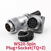 Ip68 impermeável 5 pinos ws20 conector à prova de choque conectores de alta tensão tomada conector de alimentação industrial