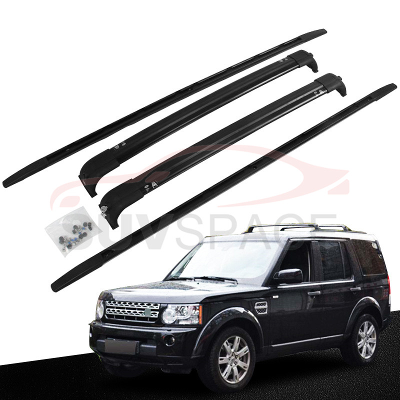 4 PCS Black Crossbars & Roof Rails Fit For Land Rover
