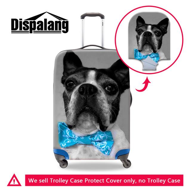 Dispalang fun animal cão 3d mala de viagem capas protetoras aplicar para 18-30 polegada caso marca viagem acessórios abastecimento para as mulheres