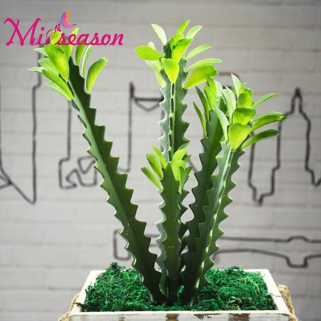 Artificial Cactus Succulents Real Touch Bonsai Flowers DIY Home
