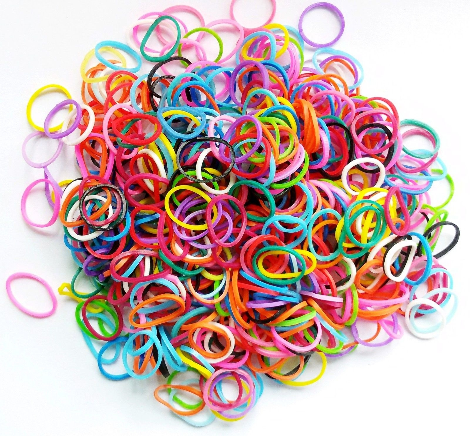100pcs/bag Mixed Colorful Rubber Bands Girls Pet Dog DIY Hair Bows Grooming Hairpin Hair Accessories