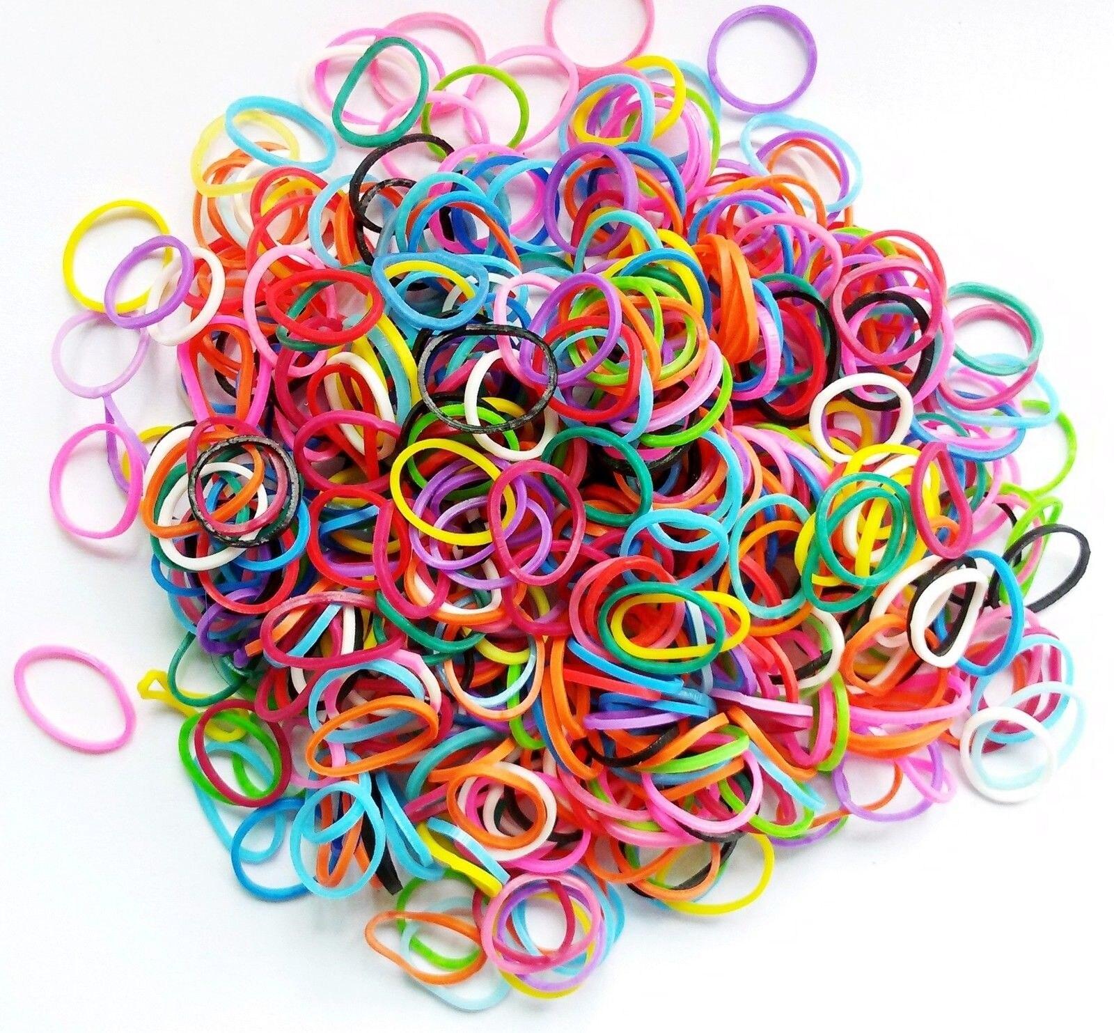 100pcs bag Mixed Colorful Rubber Bands Girls font b Pet b font Dog DIY Hair Bows