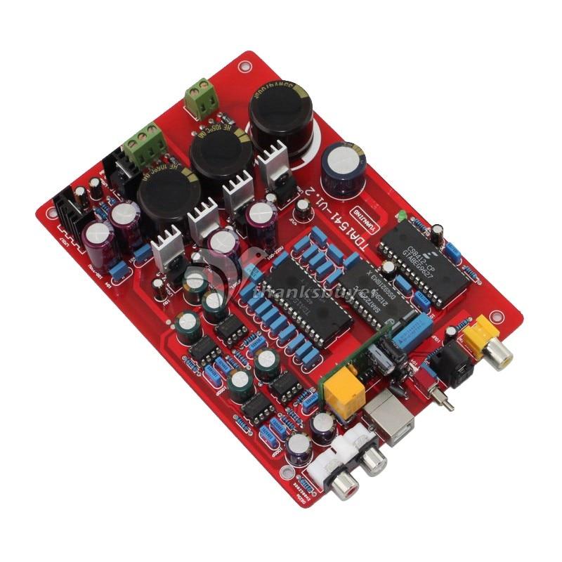 YJ TDA1541 SAA7220 CS8412 NE5534 Fiber Coaxial USB PCM2704 DAC Board