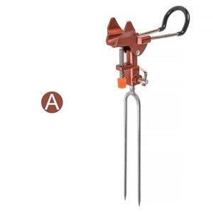 Image 4 - 알루미늄 합금 터렛 브래킷 삽입 자동 조절 낚시대 홀더 최대 장력 50 kg 브래킷 극 접지 삽입 도구