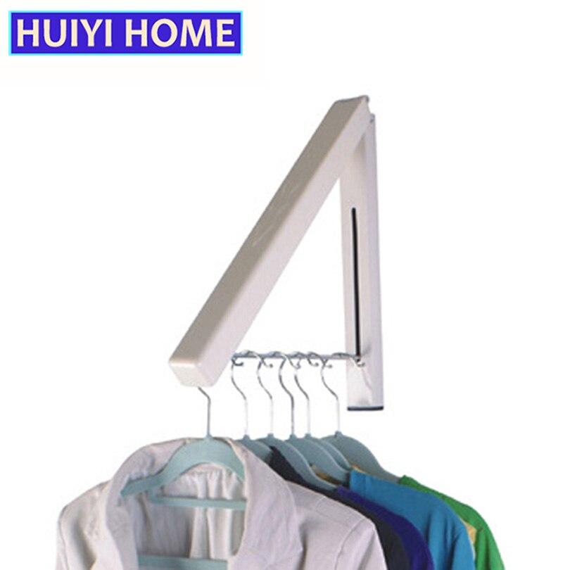 Huiyi Home Folding Stroage Hanger Wall-Mounted Creative Retractable Drying Racks EGA016