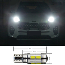 2Pcs White T10 W5W Car LED Auto Lamp Light bulbs with Lens For Kia Sportage Cerato Soul Sorento Forte Carens K2 K3 DRL