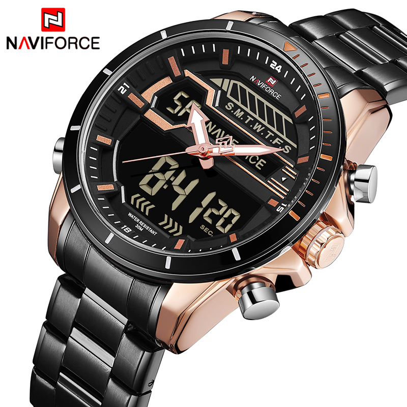 Mens Watches NAVIFORCE Luxury Top Brand Men Waterproof Sport Watch Mens Quartz Digital Clock Man Wrist Watch Relogio MasculinoMens Watches NAVIFORCE Luxury Top Brand Men Waterproof Sport Watch Mens Quartz Digital Clock Man Wrist Watch Relogio Masculino