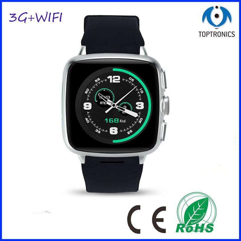 3G WIfi Astuto Orologio Cellulare con Controllo Vocale ROM 512 M di RAM 4G di Sostegno 32G Tf Android 4.4 1.3 GHZ MTK6572 Dual CoreCamera GPS