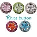 5 colores d02223 rhinestone más nuevo botón rivca botón a presión de 18mm joyería de botón a presión