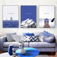 Blue Sea Water Adornment Picture Only Beautiful Scenery Hangs Contemporary And Contracted Sitting Room