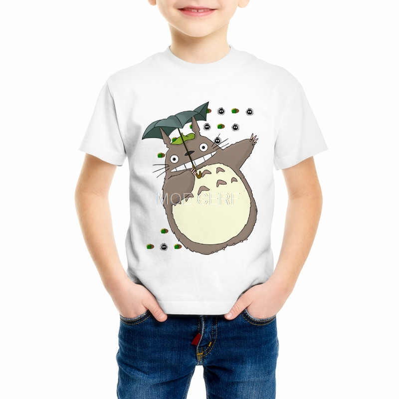 Summer Top Kids T Shirts 2018 Summer Harajuku Totoro T Shirt Boy/Girl Tops Cute Graphic Animal Print Tee funny t shirts C34-12