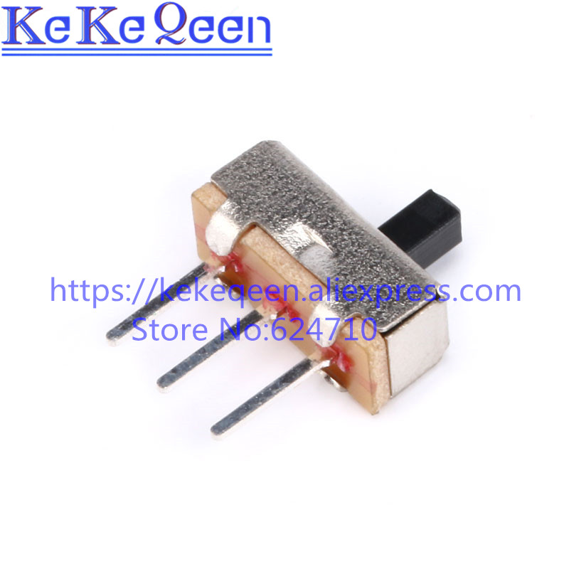 1000PCS/LOT Interruptor on-off mini Slide Switch SS12D00 SS12D00G5 3pin 1P2T High quality toggle switch Handle length:5MM