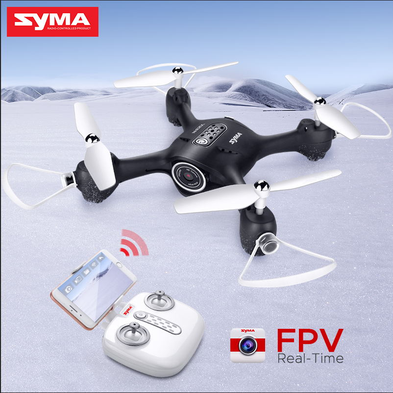 SYMA X23W RC Helicopter Drone Quadcopter Camera FPV Wifi Real Time Transmission Headless Mode Hover Function Drones Gift wltoys v686g 4ch 5 8g fpv real time transmission 2 4g rc quadcopter with 2 0mp camera headless mode auto return function us plug
