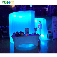 White Spiral Inflatable Wall Inflatable Photo Wall Party Backdrops Digital wedding photo Wall With LED Lights New arrival Sale