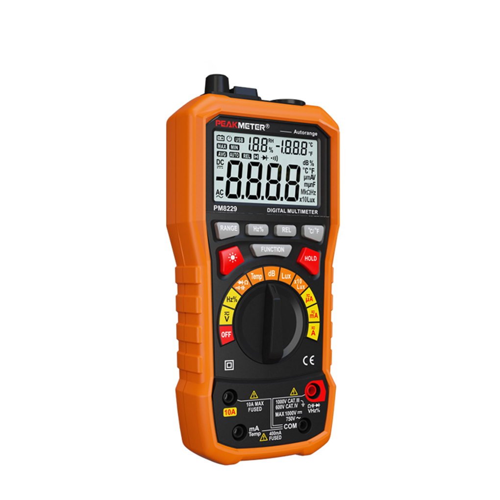 PEAKMETER MS8229 Multifunctional Digital Multimeter Auto/Manual Ranging Voltmeter Resistance LCD Backlight Measurement Tester цена