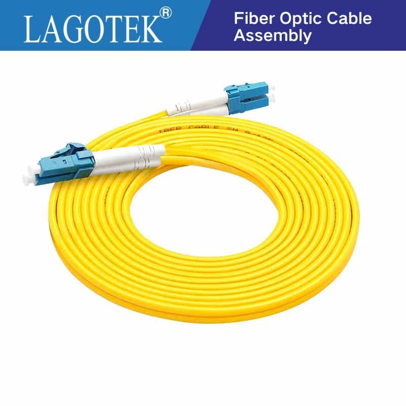 10 M ST to ST Single Mode 9//125 Duplex Fiber Optic Patch Cord Jumper Cable