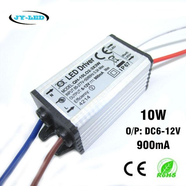 high quality led driver dc6 12v 10w 900ma 2 3x3 led power supply