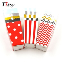 12PCS DIY Popcorn Boxes Pop Corn Favor Bags for Candy Snack  Baby Shower Supplies Christmas/Birthday/Wedding Party Decoration