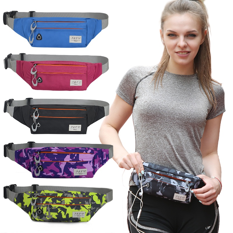 Outdoor Camping Multi-layer Pockets Waist Bag Travel Pocket with Adjustable Belt For Workout Sports