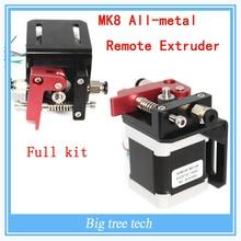 Аксессуары 3D принтера MK8 цельнометаллический дистанционного экструдер полный комплект с Nema 17 mk8 экструдер для 3D части принтера