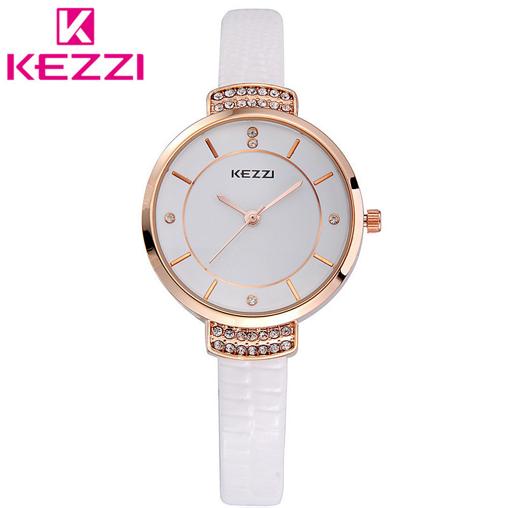 KEZZI K759 Brand Leather Strap Watches Women Dress Watches Relogio Waterproof Ladies Watch Gift Clock 916