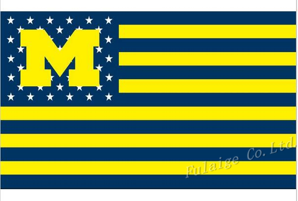 University of Michigan Wolverines USA NCAA Flag hot sell goods 3X5FT 150X90CM Banner brass metal holes