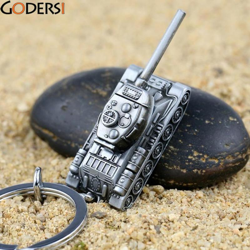 Godersi 2 Colors Keychain World Metal Car Jewelry Key Holder Souvenir Korean Style Tank  ...