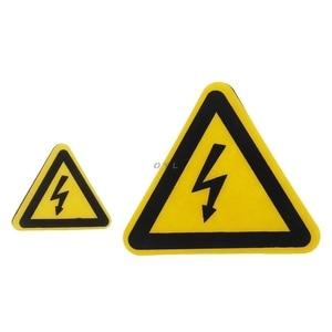 Image 2 - Etiquetas adhesivas de advertencia, aviso de peligro de choque eléctrico, seguridad, 25mm, 50mm, 100cm, PVC, resistente al agua