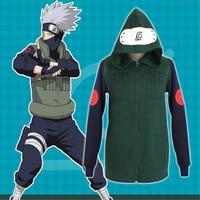 Free Delivery 2017 Japanese anime Naruto Kakashi Zip-Up Hoodie Kakashi Hoodies Anime re-make Jacket