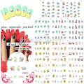 HOTSALE 90Sheet/lot SpongeBob Cartoon Nail Art Water Decals Transfer Sticker water stickers for nail art +Separate Packed