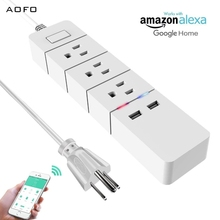 WiFi Power Strip Smart Surge Protector with Individual Control - Works with Alexa Google Home - Smart Surge Protector with USB недорого