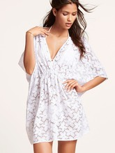 New 2019 Beach Cover Up Floral Embroidery Bikini Swimsuit Cover Up Beach Cardigan Swimwear Bathing Suit Cover Up
