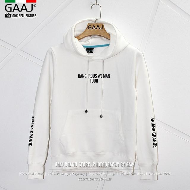 Exclusive  Hoodies  Dangerous Woman 2018 Tour Bunny White Black Hoodie Womens sweatshirts Fashion Streetwear Hooded