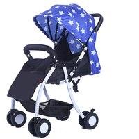 Супер легкий складной Высокая Пейзаж Детские коляски Umbrella автомобиля коляску, новорожденных Ширина спальные корзины коляска для путешеств