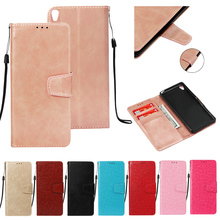 LUCKBUY Plain Case For Coque Sony Xperia XA XA1 XA2 XZ1 XZ2 Compact Sony E5 Retro Leather Flip Wallet For Sony Xperia L1 L2 Case
