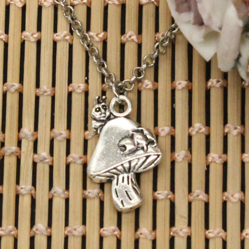 New fashion centipede mushroom pendants round cross chain short long new fashion centipede mushroom pendants round cross chain short long mens womens diy silver necklace jewelry gift in chain necklaces from jewelry mozeypictures Gallery