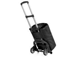 Multifunctional Shopping Cart Upgrade Aluminum Alloy Foldable Trolley Four Smal Wheel Pull Truck Portable Luggage Cart