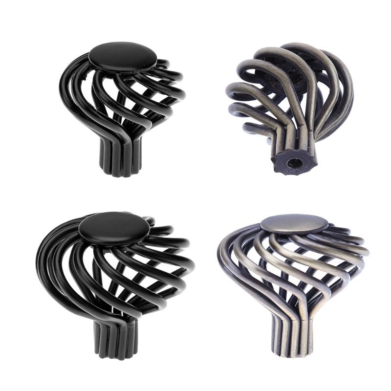 Vintage Furniture Handle Cabinet Closet Birdcage Hollow out Cage Kitchen Cupboard Handle Cabinet Knobs Door Drawer Pull Handles 2pcs furniture knob drawer door closet cabinet knobs and handles wardrobe closet handle pull kitchen door pull 64 96 128mm