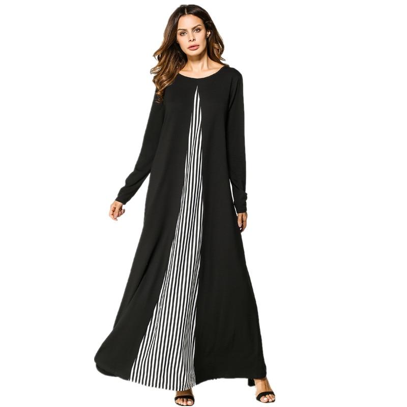 Femmes caftan musulman islamique arabe Jilbab Abaya Vintage à manches longues Maxi robe mode livraison gratuite