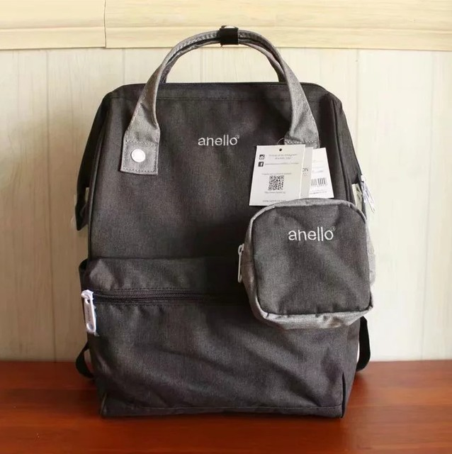 Anello Japan Grau Reguläre Größe Rucksack Laptop Retro Fleckig Tasche 180124