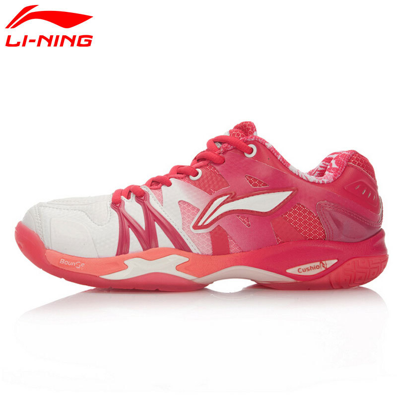 Li-Ning Professional Badminton Shoe for Women Cushion Breathable Anti-Slippery Lining Shock Absorption Athletic Sneakers AYAL024