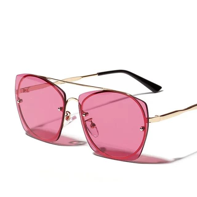 2019 New Elegant Ladies Cat Eye Sunglasses Women Brand Designer Italy Fashion Rose Pink Square Sun Glasses Female Eyewear Shades