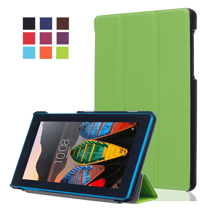 3 in 1 ,Slim Magnetic PU Leather Cover Stand Case for Lenovo Tab 3 7.0 710 710F Tablet TB3-710F + Screen Protector Film + Stylus