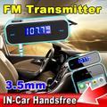 De alta Calidad de 3.5mm para El Automóvil Manos Libres transmisor fm LCD Inalámbrico Negro Música Audio del Transmisor FM USB MP3 de la Música reproductor para el coche